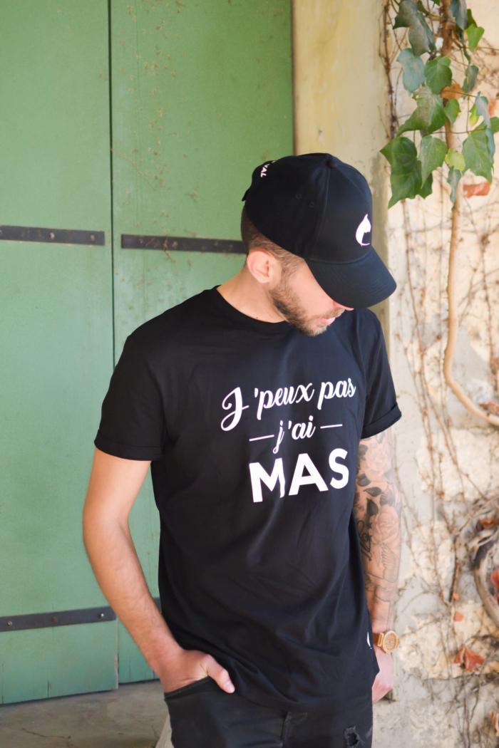 """tshirt et casquettes """"j'peux pas j'ai Mas"""" boutique mas du cheval"""