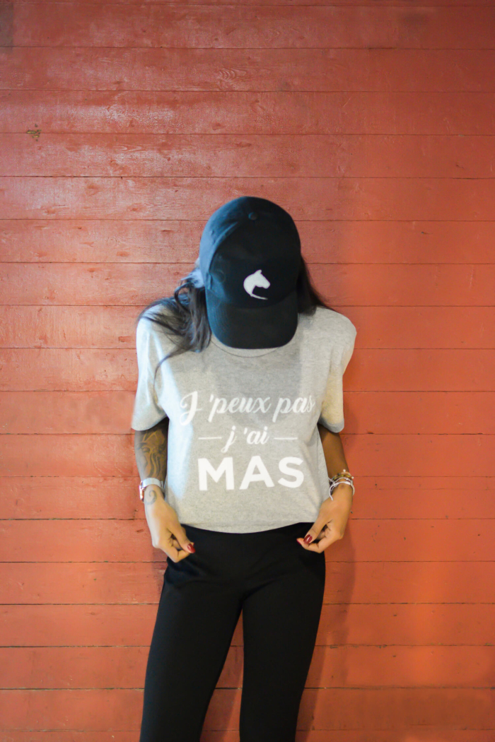 """tshirt femme """"j'peux pas j'ai Mas"""" boutique officielle"""